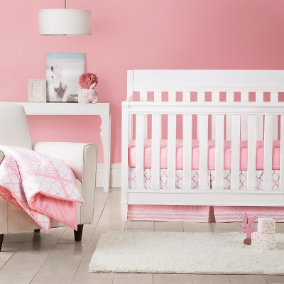 Trend Lab 3pc Crib Bedding Set – Pink Sky