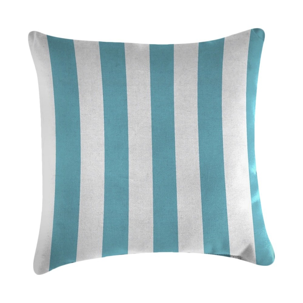 Image of Jordan Set of Accessory Toss Pillows - Cabana Stripe Turquoise