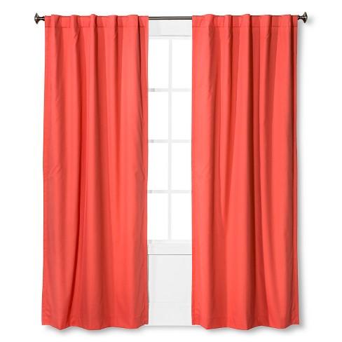 Twill Blackout Curtain Panel Melon 42 Quot X84 Quot Pillowfort