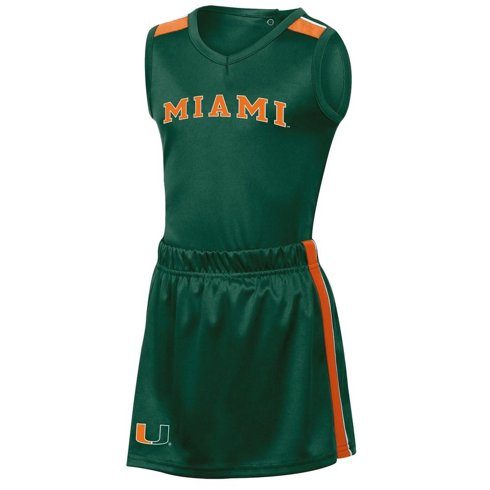 Miami Hurricanes Girls' 3pc Cheer Set 12M, Multicolored