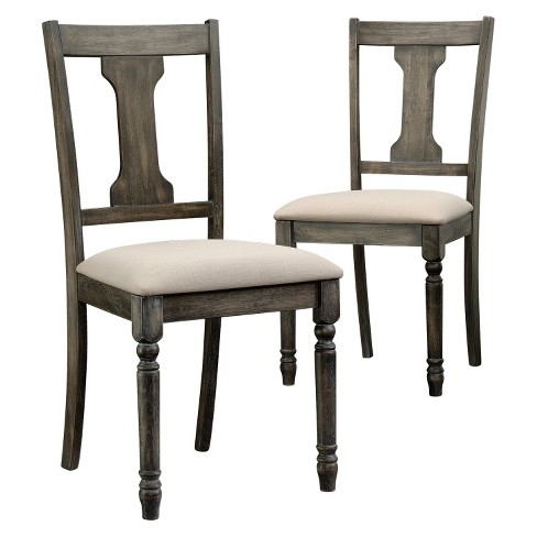 Barrister Lane Weathered Dining Chair (Set of 2) - Vintage Gray - Sauder - image 1 of 1