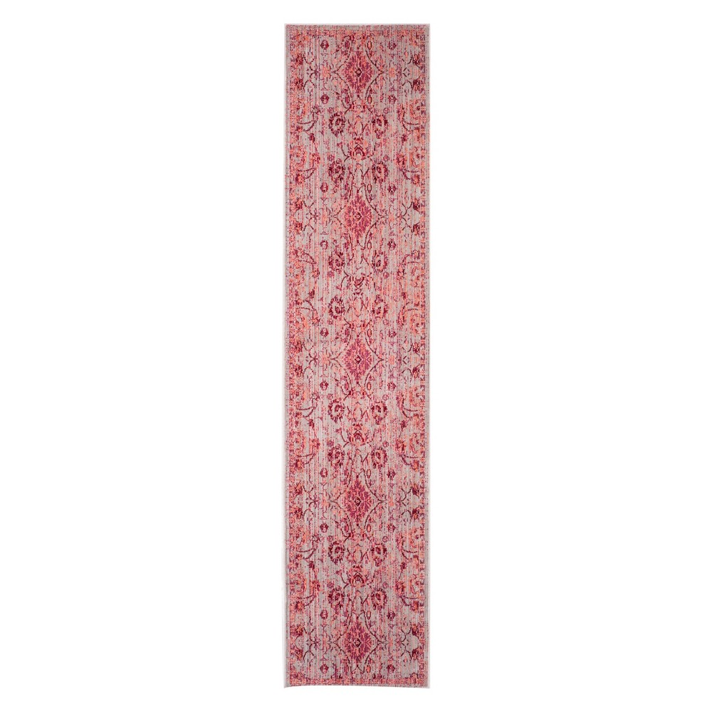 23X6 Floral Loomed Runner Fuchsia - Safavieh Coupons