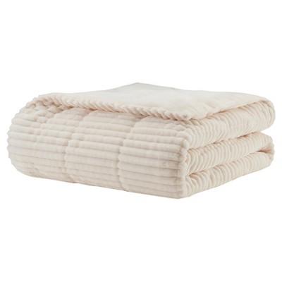 """60""""x70"""" Williams Corduroy Plush Down Alternative Throw Blanket"""