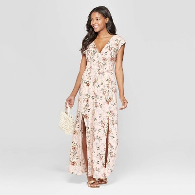 d37e1b69bd5 Women s Floral Print Sleeveless V-Neck Smocked Waist Maxi Dress -  Xhilaration™