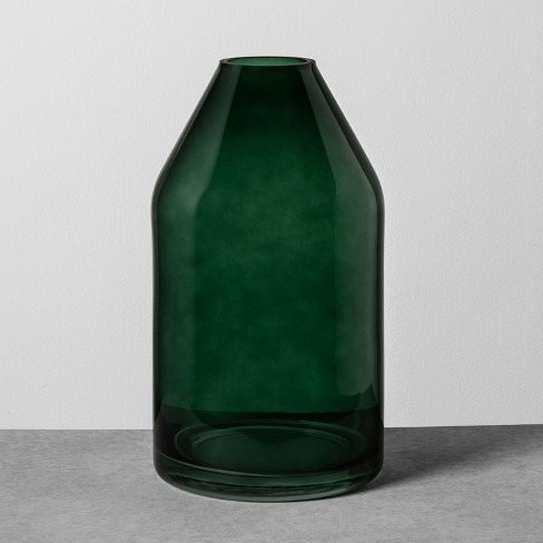 Glass Jug Vase Large Green Hearth Hand With Magnolia Target