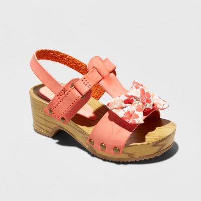 Toddler Girls' Valentina Heeled Bow Sandals - Genuine Kids™ from OshKosh® Pink 5