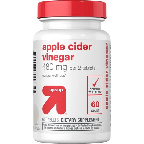Apple Cider Vinegar Supplement Tablets - 60ct - Up&Up