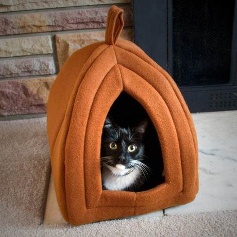 Petmaker Cozy Kitty Tent Igloo Plush Cat Bed - Brown - image 1 of 4