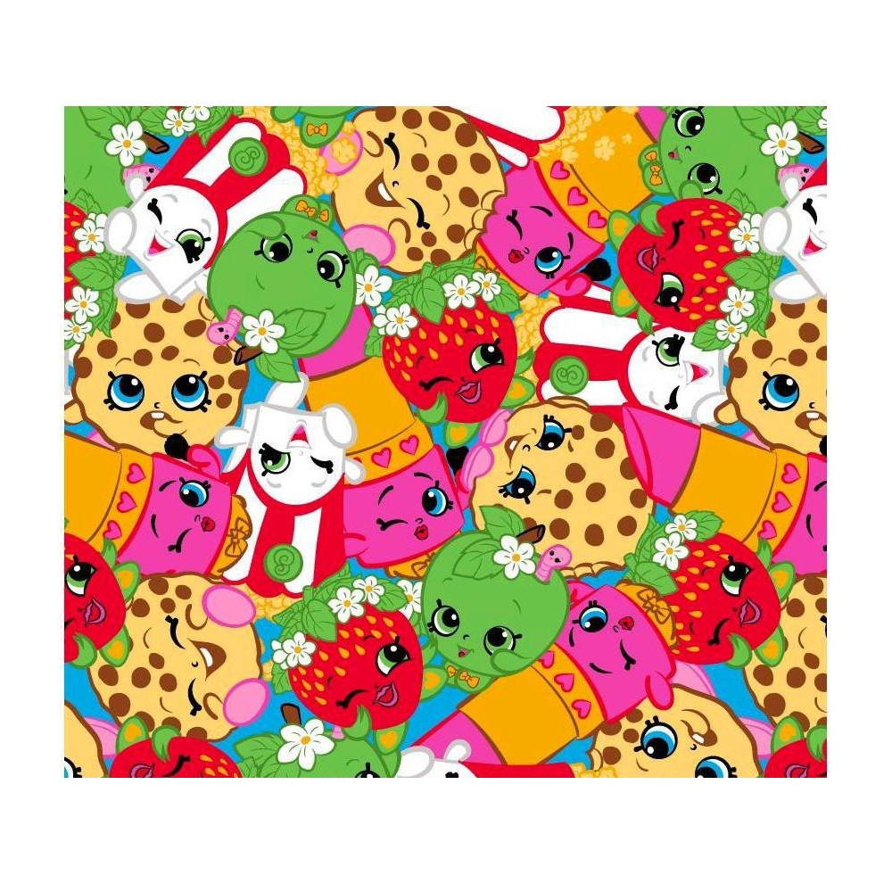 Image of Shopkinspked Fleece Legging Fabric by the Yard
