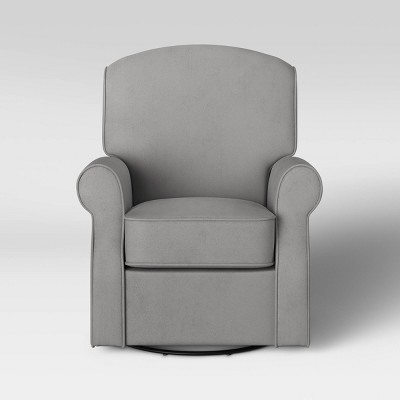 Delta Children Oakley Nursery Glider Swivel Rocker Chair - Dolphin Gray