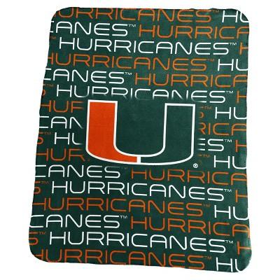 NCAA Logo Brands Classic Fleece Throw Blanket