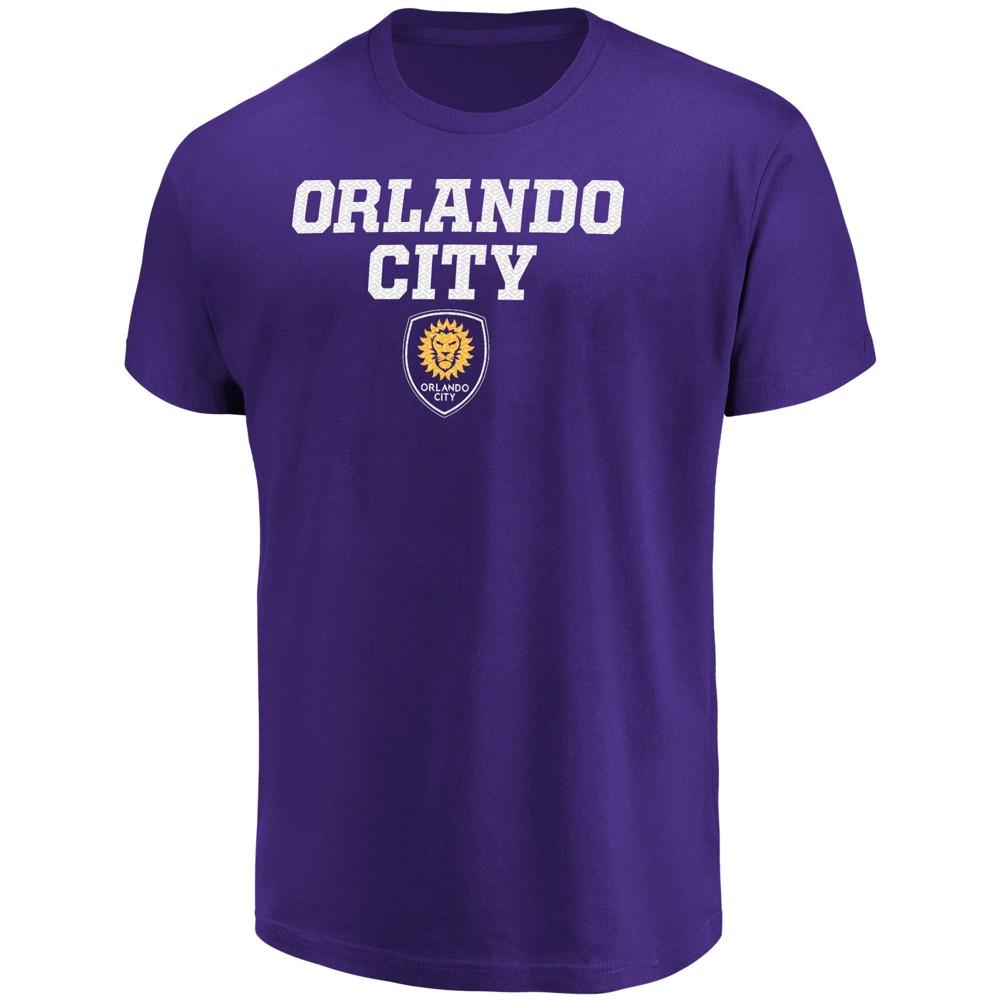 Mls Men's Short Sleeve No Nonsense Core T-Shirt Orlando City SC - S, Multicolored