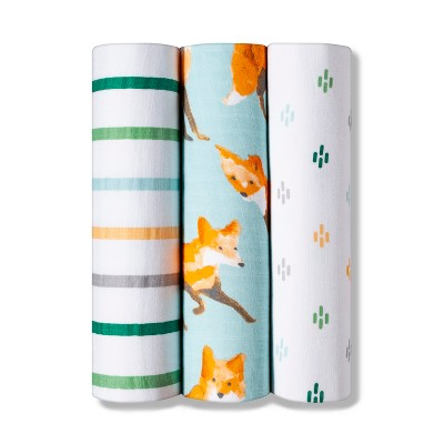 Swaddle Muslin Blankets - Cloud Island™ Fox