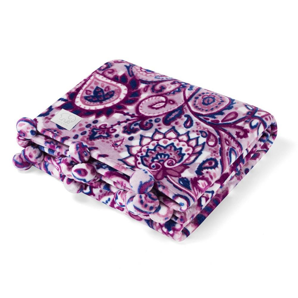 "Image of ""Ivory Ella 50""""x60"""" Carina Throw Blankets Blanket Purple"""