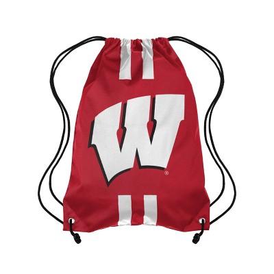NCAA Wisconsin Badgers Striped Drawstring Bag