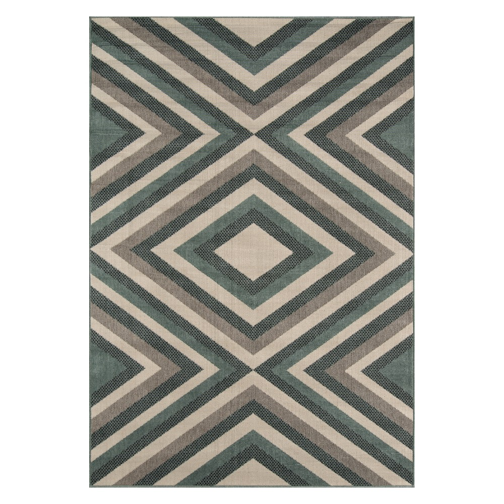 Geometric Loomed Accent Rug Sage
