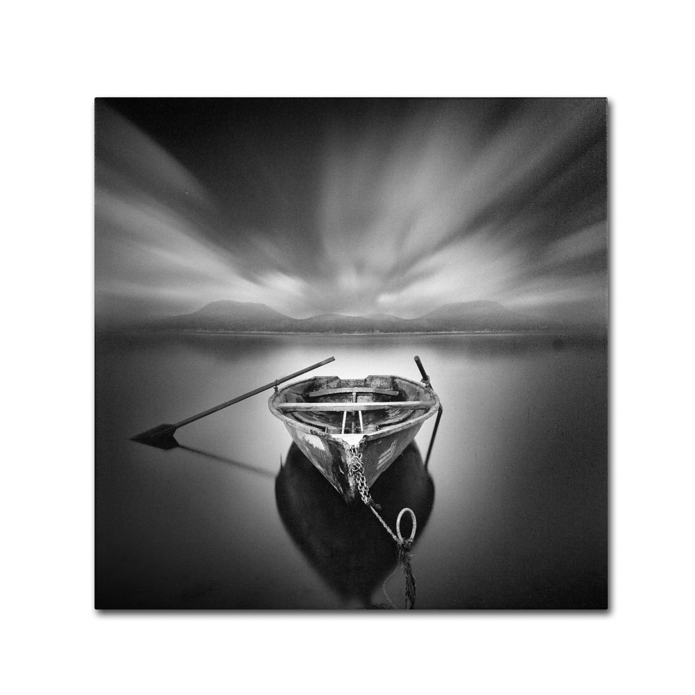 'Ready' by Moises Levy Ready to Hang Canvas Wall Art, Grey
