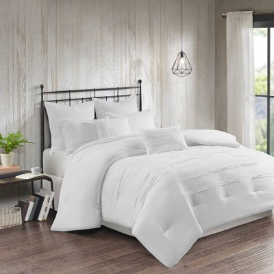 Jaine Queen 8pc Comforter Set White