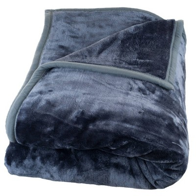 Solid Soft Heavy and Thick Plush Mink Throw Gray - Hastings Home