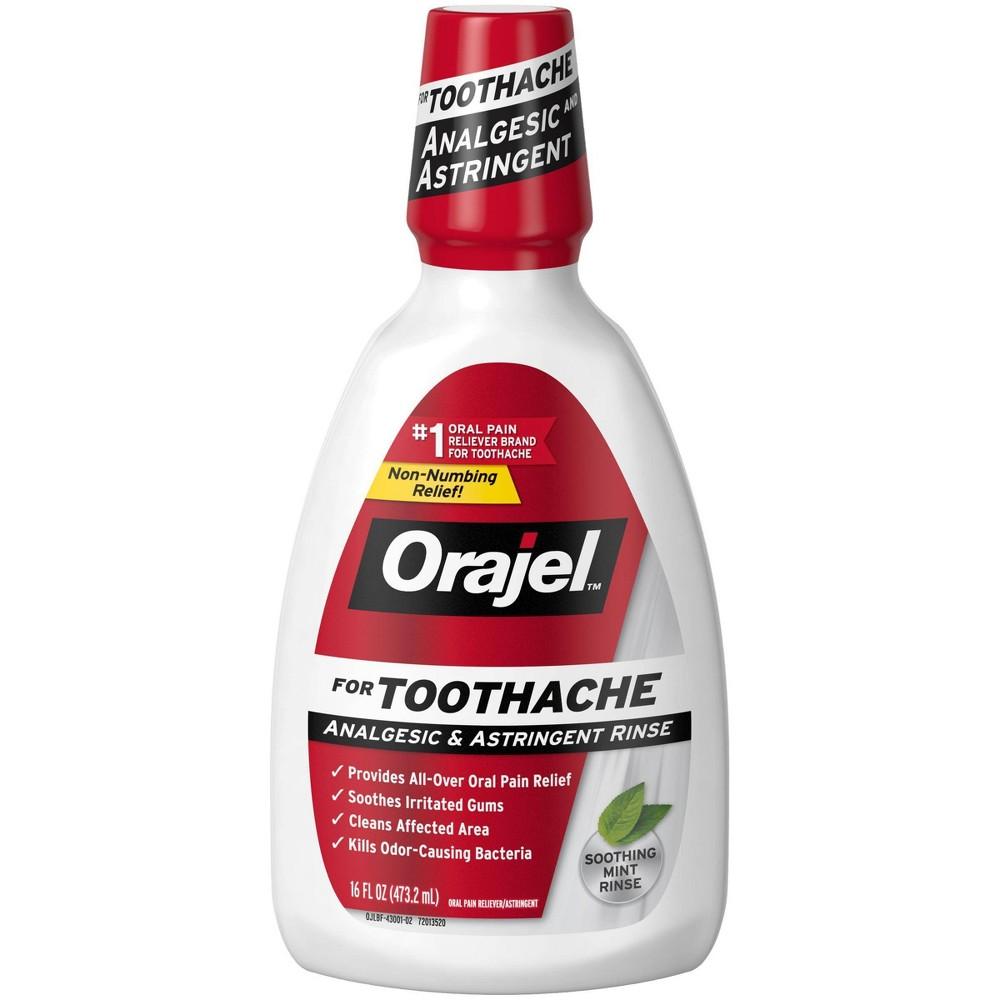 Orajel Toothache Analgesic 38 Astringent Rinse 16 Fl Oz