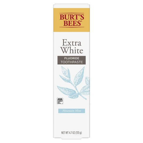 Burt's Bees Extra White Fluoride Toothpaste Mountain Mint - 4.7oz - image 1 of 4