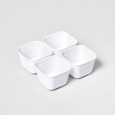 4pk Small Storage Trays White - Room Essentials™