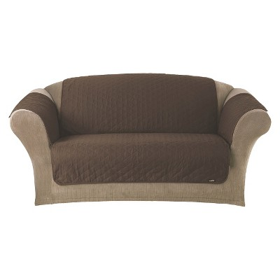 Quilted Duck Furniture Friend Pet Loveseat Cover Chocolate - Sure Fit