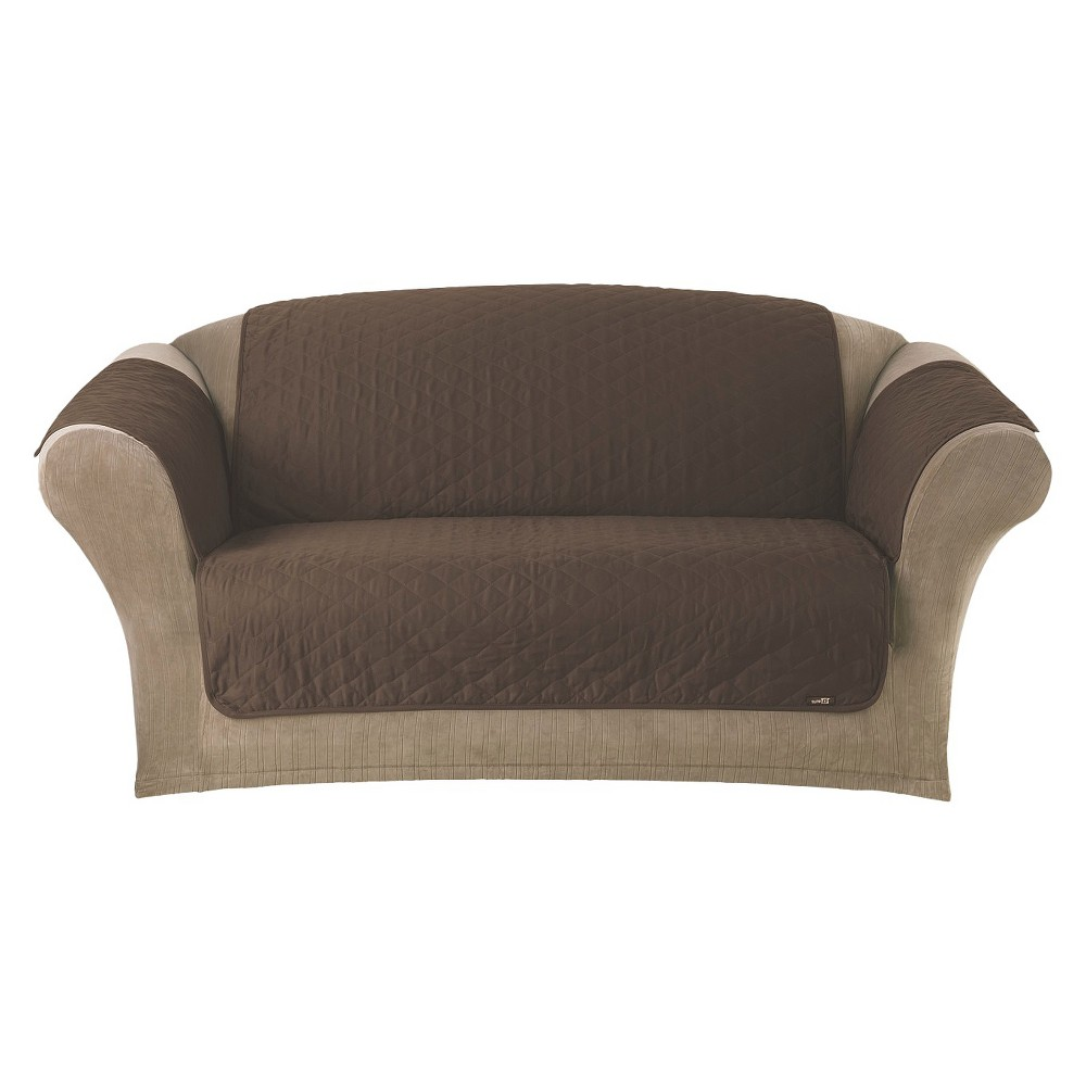 Quilted Duck Furniture Friend Pet Loveseat Cover Chocolate (Brown) - Sure Fit
