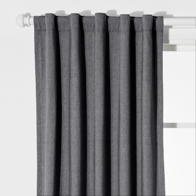 Chambray Window Blackout Curtains Gray (42 x84 )- Pillowfort™