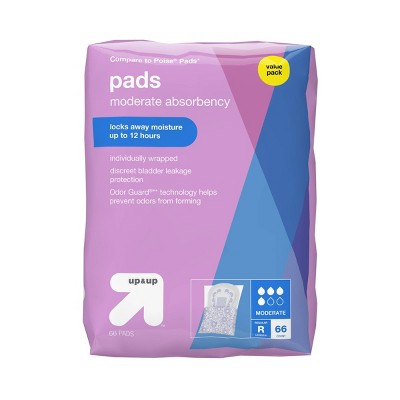 Incontinence Pads for Women - Moderate Absorbency - Regular - up & up™