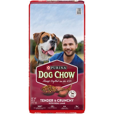 Purina Dog Chow Tender & Crunchy with Real Lamb Adult Complete & Balanced Dry Dog Food