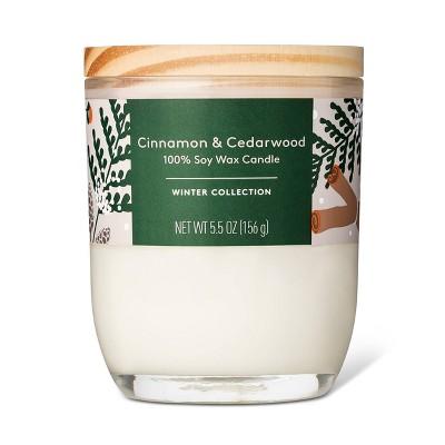 Cinnamon + Cedarwood Candle - 5.5oz - Everspring™