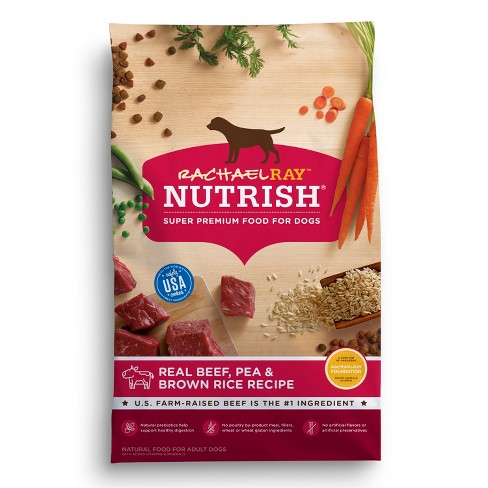 Rachael Ray Nutrish Natural Real Beef, Pea and Brown Rice Recipe Dry Dog Food - image 1 of 4