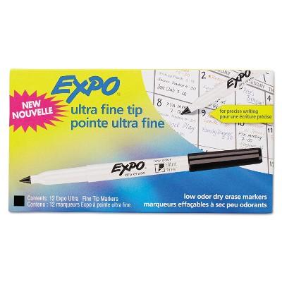 EXPO Low-Odor Dry-Erase Marker Ultra Fine Point Black Dozen 1871131