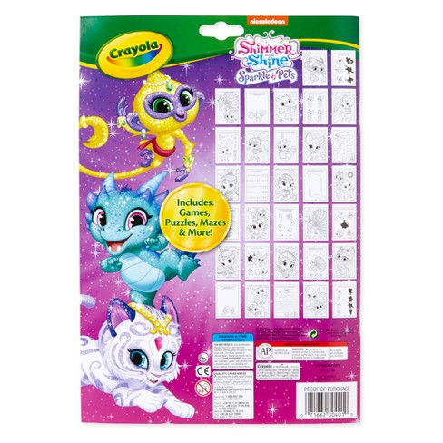 Crayola Shimmer And Shine Coloring Activity Pad Target