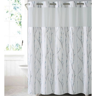 Cherry Bloom Shower Curtain with Liner - Hookless