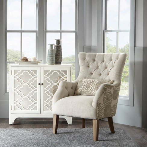 Chapman Accent Chair With Back Pillow Beige : Target