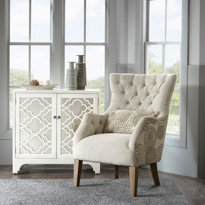 Awesome Chapman Accent Chair With Back Pillow Beige : Target
