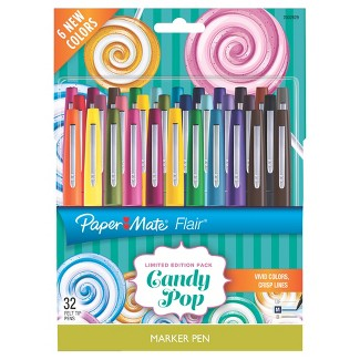 Paper Mate® Flair® Marker Pens Candy Pop, 32ct