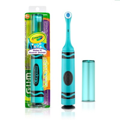 GUM Kids' Crayola Electric Toothbrush - 1ct