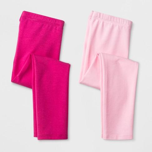 6f9bc7a4e Toddler Girls' 2pk Leggings - Cat & Jack™ Magenta Pink & Light Pink ...