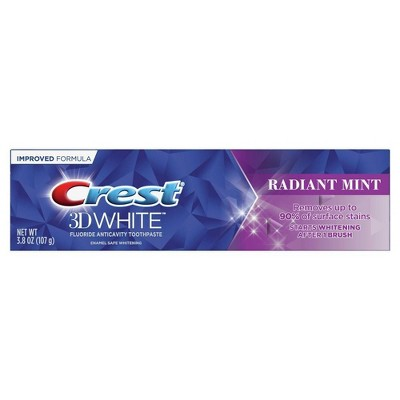 Crest 3D White Whitening Toothpaste, Radiant Mint