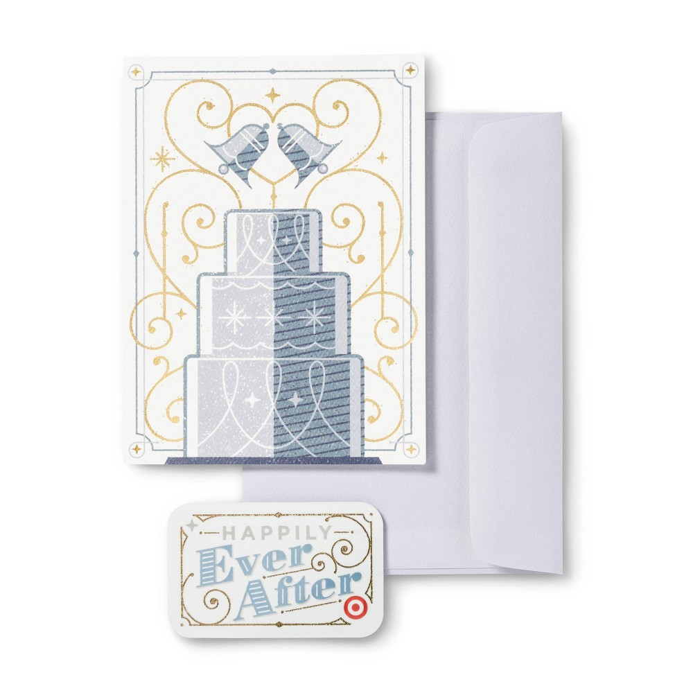 Wedding Cake Topper 50 Giftcard Free Greeting Card