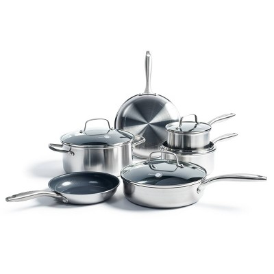 GreenPan Greenwich  10pc Stainless Steel Cookware Set
