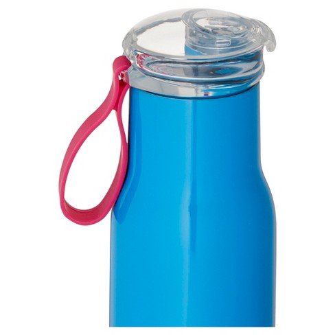 63c6dc6d87b BYO® 18oz Double-Walled Vacuum Insulated Stainless Steel Water Bottle With  Flip Top Lid - Blue : Target