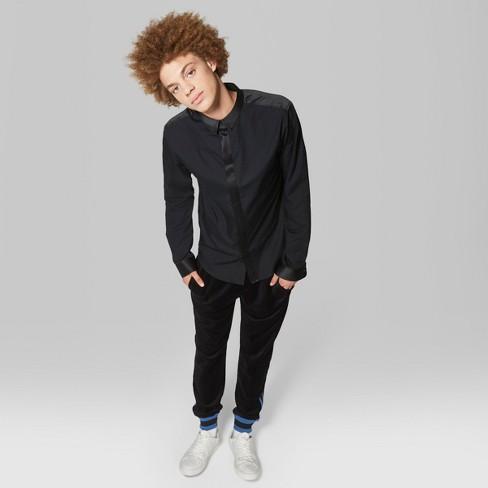 37727252d35 Men s Casual Fit Long Sleeve Satin Poplin Button-Down Shirt - Original Use™  Black