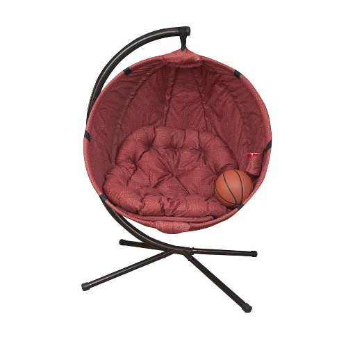 Incredible Basketball Hanging Patio Lounge Chair With Stand Brown Flowerhouse Squirreltailoven Fun Painted Chair Ideas Images Squirreltailovenorg