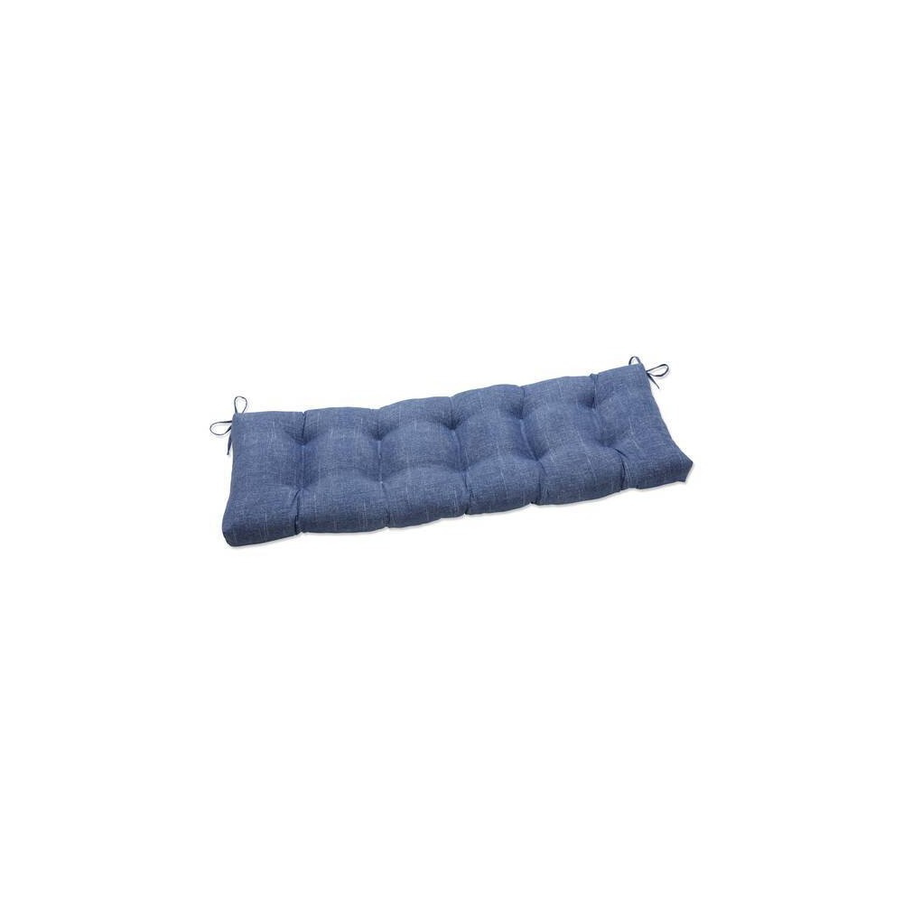 60 34 X 18 34 Outdoor Indoor Tufted Bench Swing Cushion Tory Denim Blue Pillow Perfect