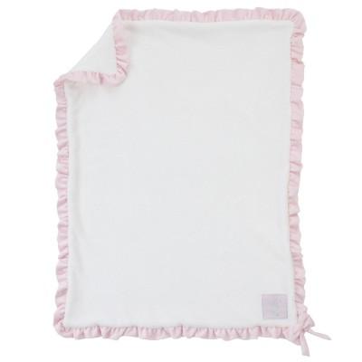 NoJo Baby Blanket - Ballerina Bows - White