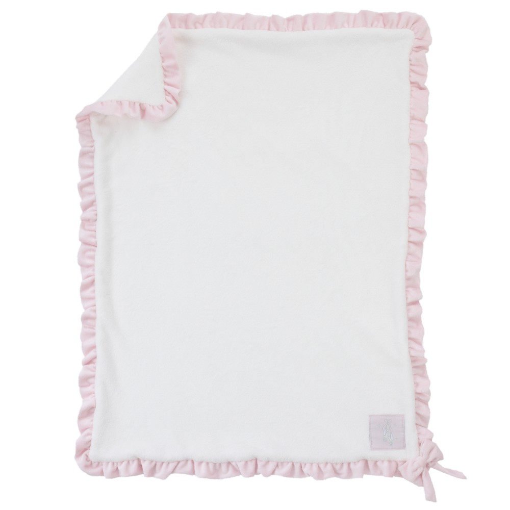 Image of NoJo Baby Blanket - Ballerina Bows - White